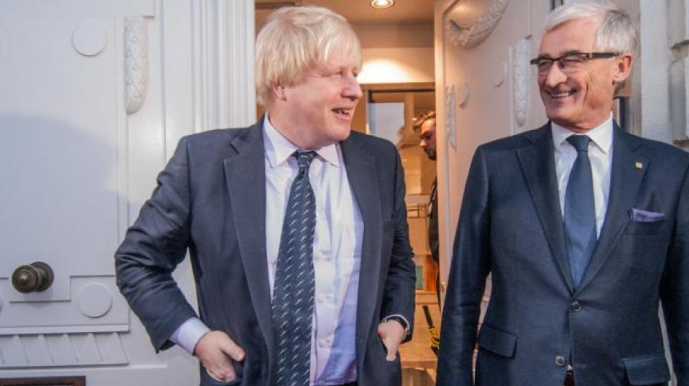 Boris Johnson and Geert Bourgeois